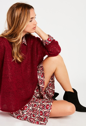 Notre Pull Florence : - Col rond, - Manches longues, -