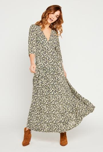 En journée ou en soirée, notre robe longue Holly est