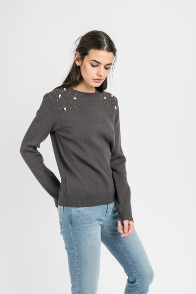 Sweat Andy et Lucy, coupe droite, manches longues, col rond,