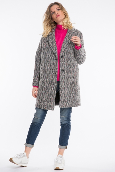 Manteau See U Soon, coupe oversize, manches longues,