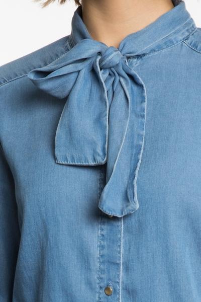 Chemise Vila, manches longues, coupe droite, fermeture