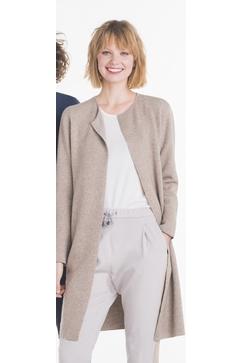 Long cardigan 3/4 réversible pour Femme. 100% Cachemire.