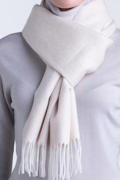 Écharpe unie en tissu moiré 100% Cachemire. Pour Homme et