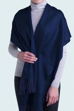 Étole bicolore en tissu moiré 100% Cachemire. Modèle Femme.