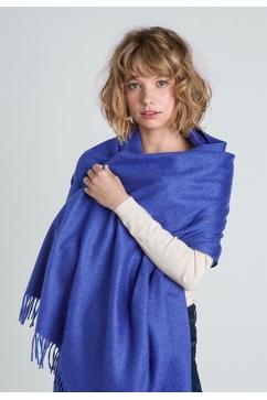 Étole unie en tissu moiré 100% Cachemire. Modèle Femme.
