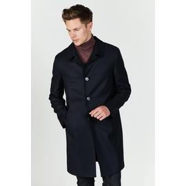 Manteau en laine, Spontini - Coupe droite - Fermeture