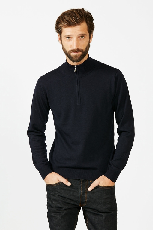 Pull by spontini - col camionneur - fermeture zip - revers