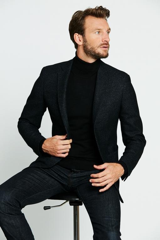Veste en laine by Spontini pour homme. - 2 poches plaquées -