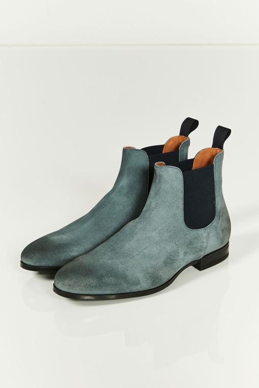 Boots - co branding doucals/spontini - bout rond - en daim -