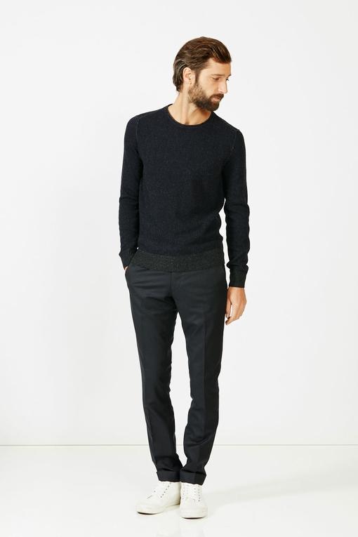 Pull col V by Spontini pour homme. - En laine mélangée : 35%