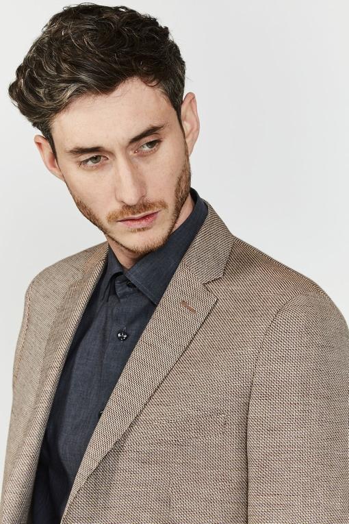 Veste en lin by Spontini pour homme. - 2 poches plaquées -
