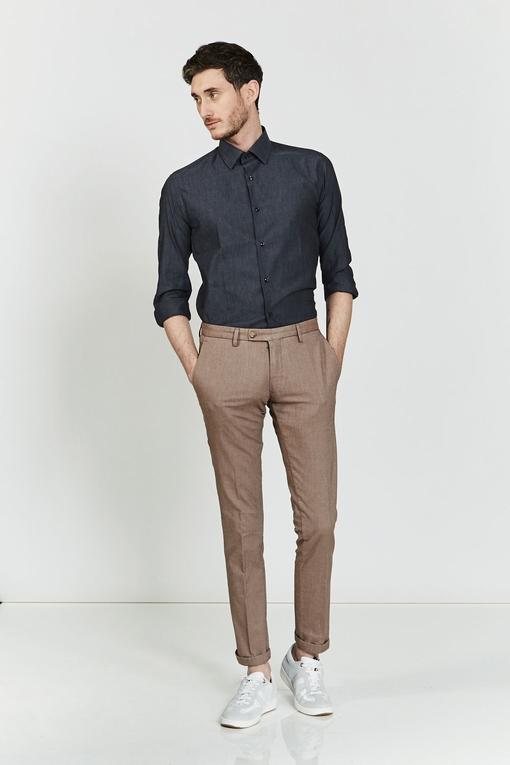 Chino en coton stretch by Spontini pour homme. - En coton
