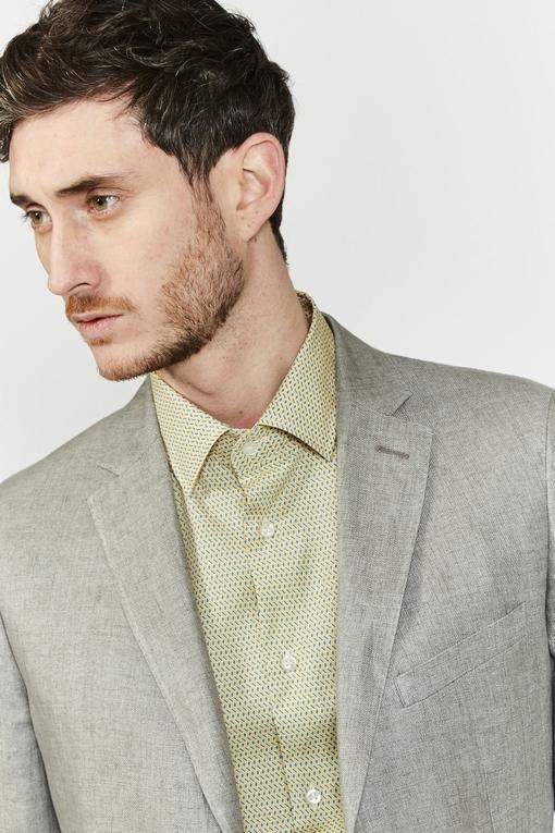 Veste en lin by spontini - Semi-doublée - 2 poches plaquées