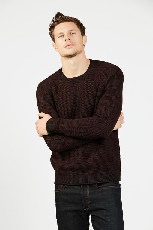 Pull col rond en laine by Spontini pour homme. - En laine