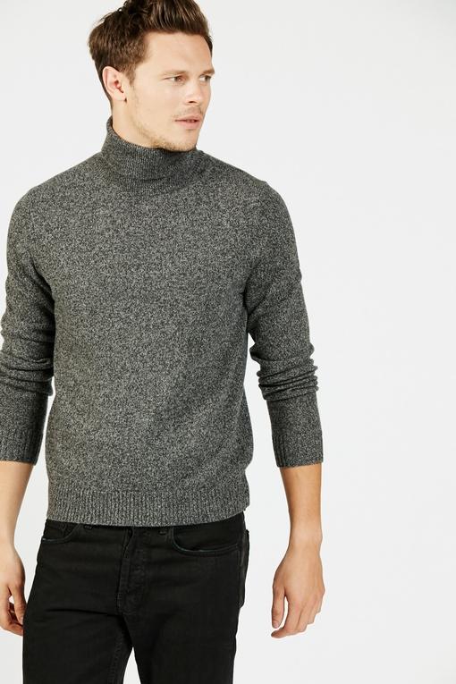 Pull col roulé en laine by Spontini pour homme. - Manches