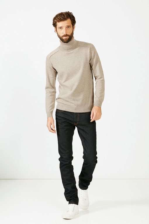 Pull col roulé by Spontini pour homme. - Manches longues. -