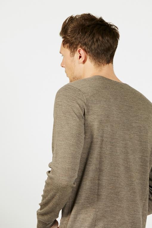Pull en laine mérinos by Spontini pour homme. - Manches