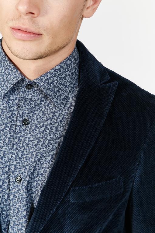 Veste en velour palatine à micro-motifs by Spontini pour