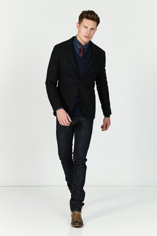 Veste à micro-motifs by Spontini pour homme. - Col revers -