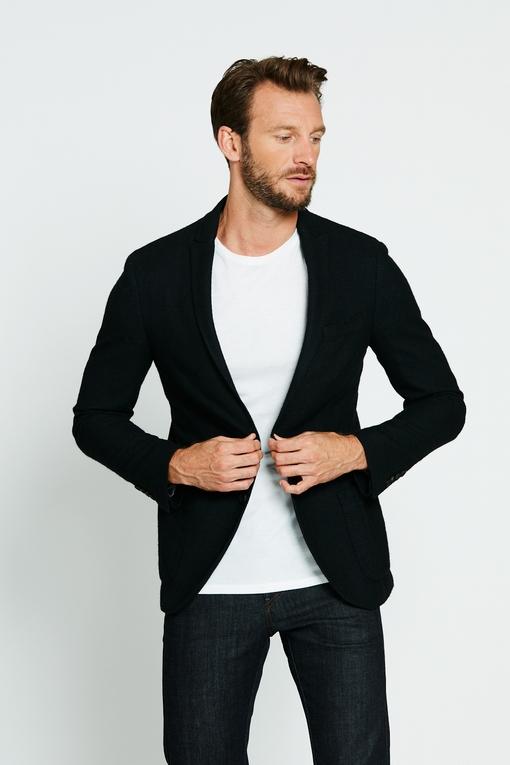 Veste en coton et laine by Spontini pour homme. - Col revers