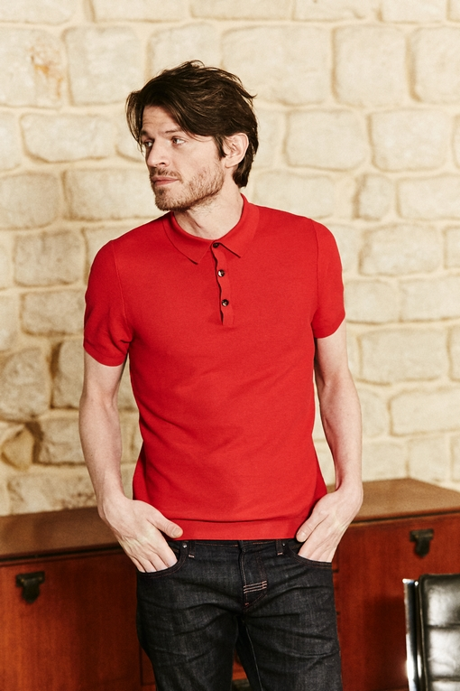 Polo en coton by Spontini pour homme. - 70% coton - 30%
