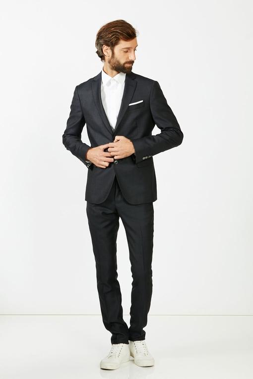 Costume slim by Spontini pour homme. - En laine vierge 100%