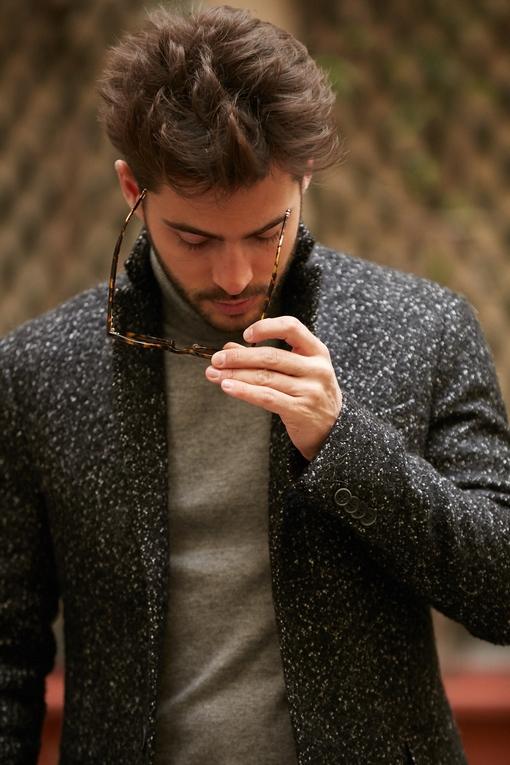 Manteau homme, by spontini - coupe ajustée - 2 fentes au dos