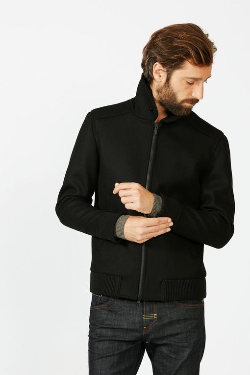 Blouson by Spontini - Col chemise - fourure amovible -