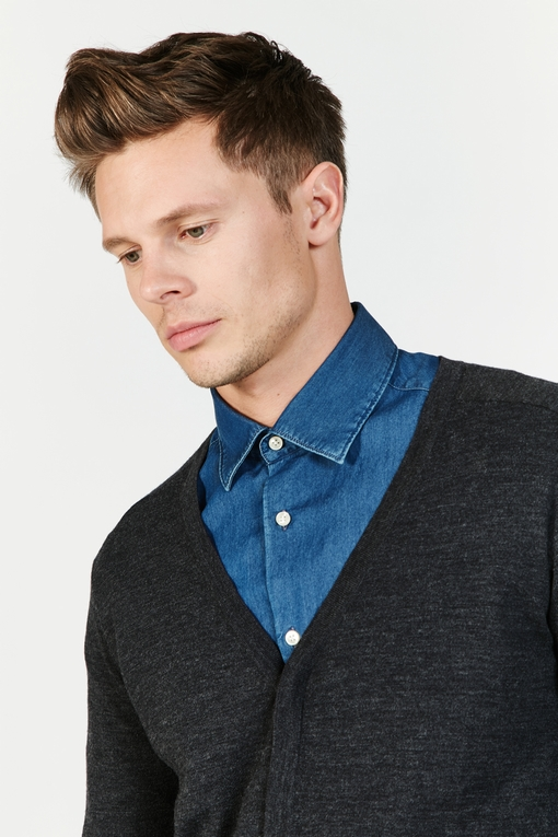 Gilet en laine avec poches by Spontini pour homme. - En