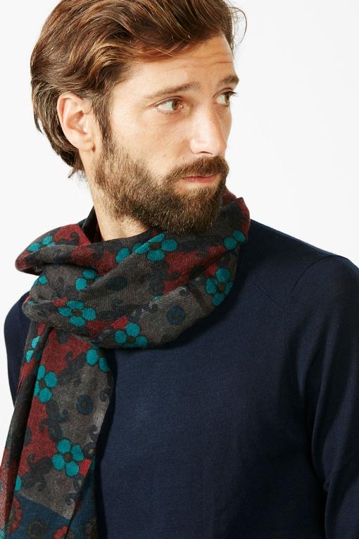 Echarpe By spontini - à motifs - 100% laine - Fabriquée en
