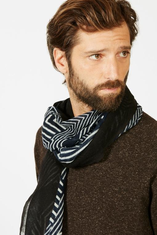 Echarpe by spontini - a motifs - 100% laine - Fabriqué en