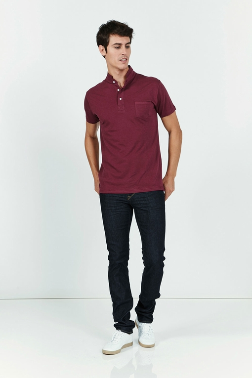 T-shirt col officier by Spontini pour homme - Manches