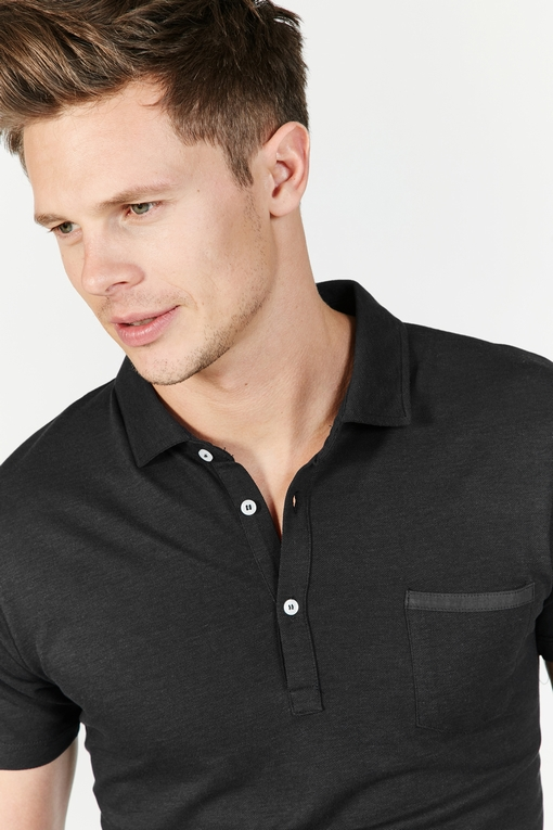T-shirt col polo by Spontini pour homme - Manches courtes. -