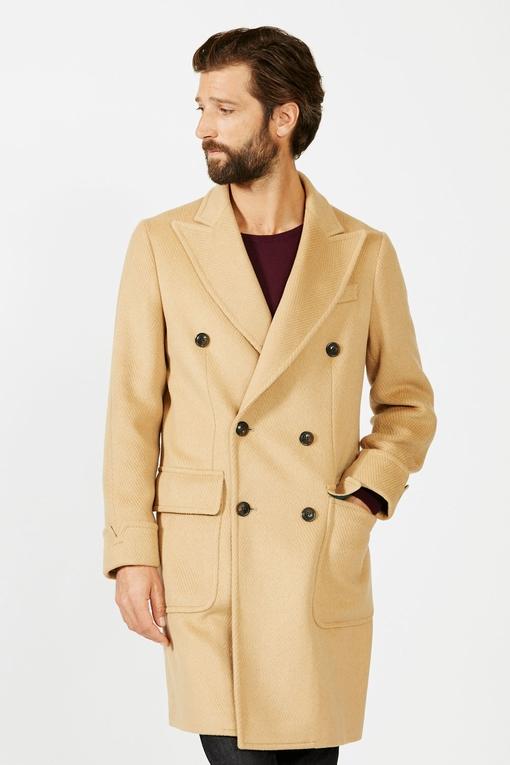 Manteau by spontini - croisé - 2 poches plaquées - 2 poches