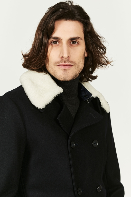 Caban croisé by spontini - drap de laine epais et chaud -
