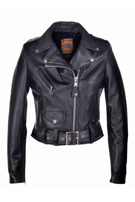 Cette toute nouvelle veste de moto en cuir Perfecto de femme