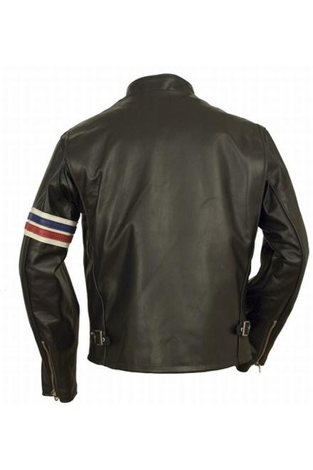26  steerhide noir veste Easy Rider en cuir de