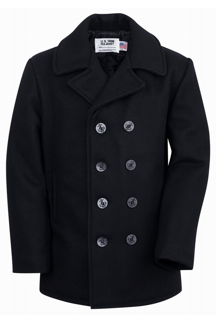 Notre 32 Classic 32 oz Melton Wool Navy Peacoat, boutons