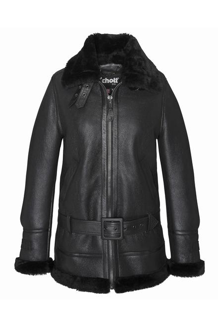 Longue veste Bombardier B3 peau lainé Fermeture zippée 2
