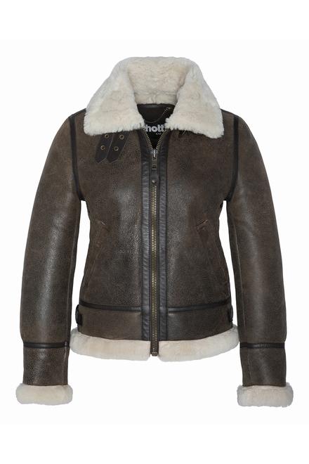 Blouson Bombardier B3 peau lainé Fermeture zippée 2 poches