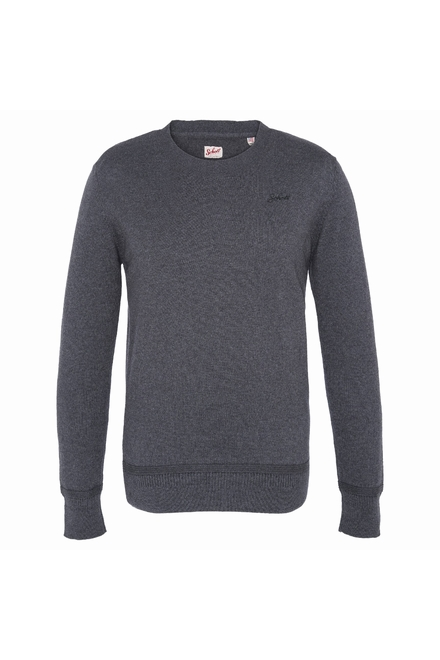 pull col rond Finition bord côte poignets et taille