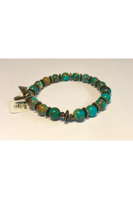 Bracelet confectionné avec des Perles semi-précieuses Blue