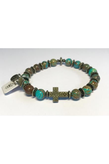Bracelet confectionné avec des Perles semi-précieuses Crazy