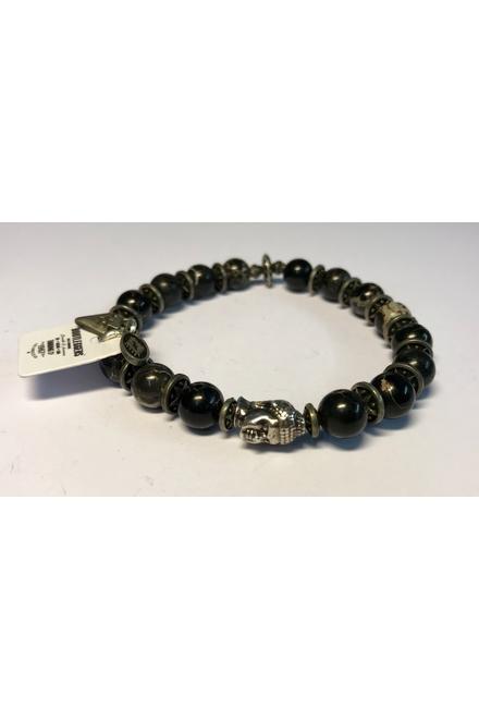 Bracelet confectionné avec des Perles semi-précieuses Black