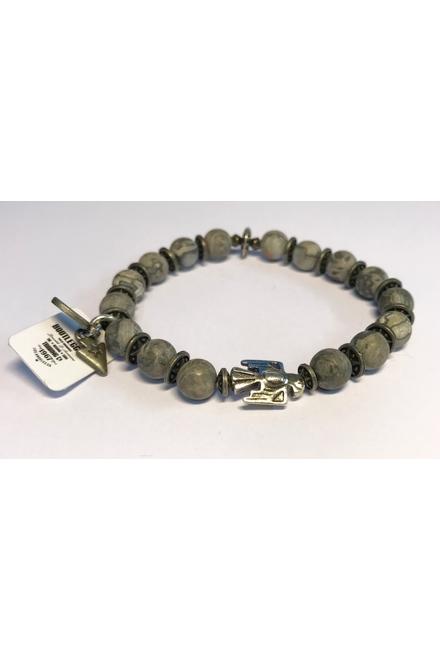 Bracelet confectionné avec des Perles semi-précieuses Jasper