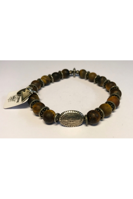 Bracelet confectionné avec des Perles semi-précieuses Tiger