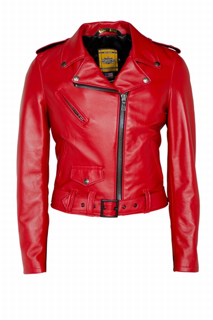 This brand new women's Perfecto leather motorcycle jacket is